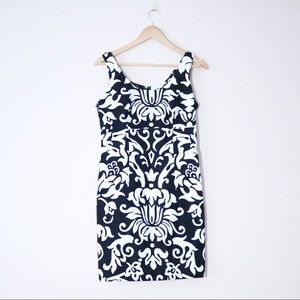 Black and White Baroque Dress